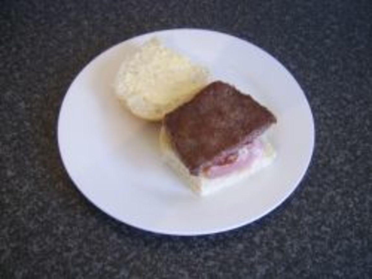 Roll and sausage and back bacon