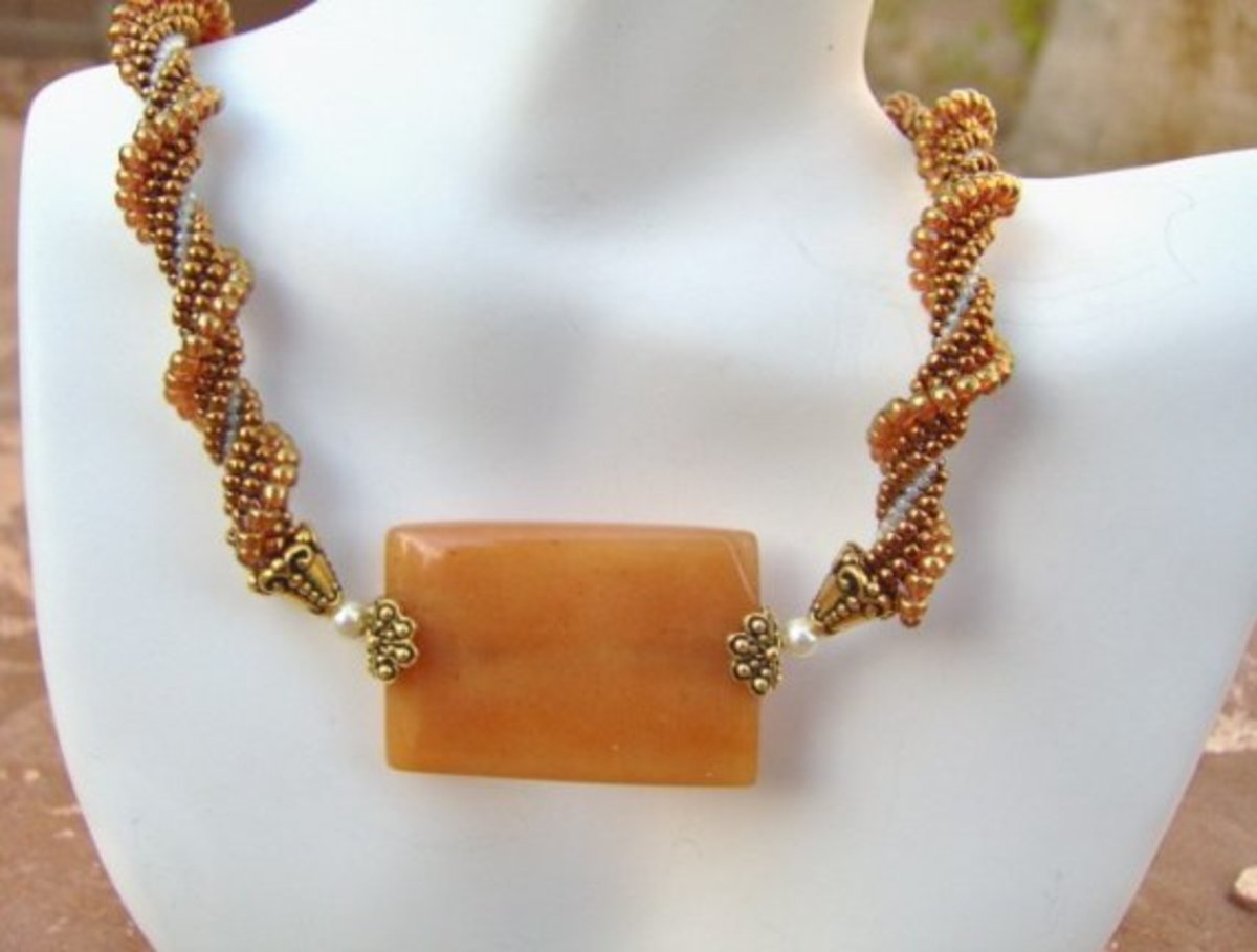 Twisted Caramel Ndebele Necklace