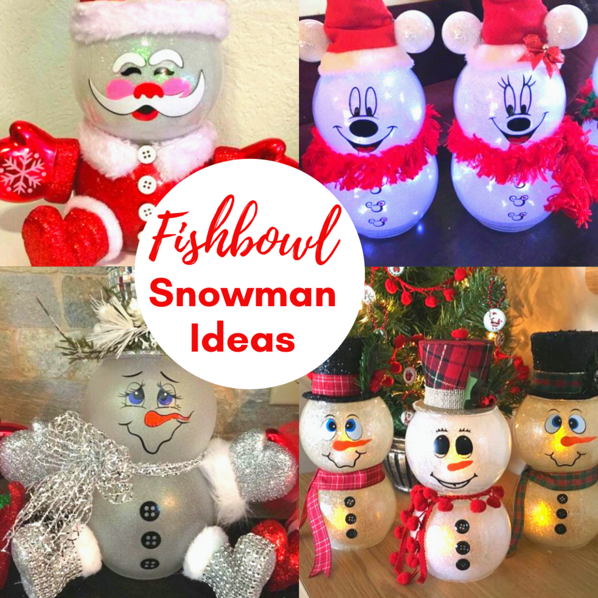 Fish Bowl Snowman Ideas