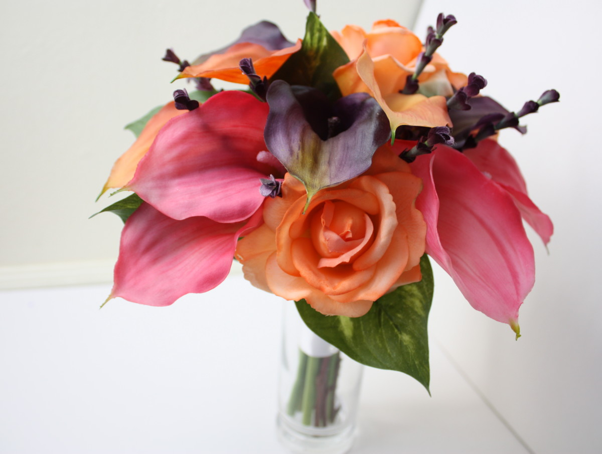 Calla Lily Real Touch Bouquet, Fall Weddings by Lilywinkel