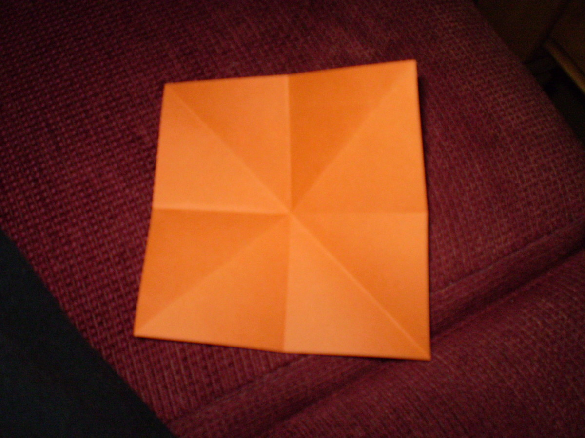 After folding diagonally as well.