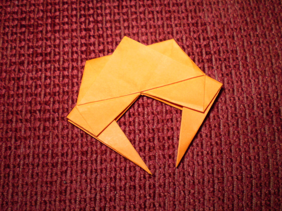 How to fold an Origami Crab - Step by step instructions