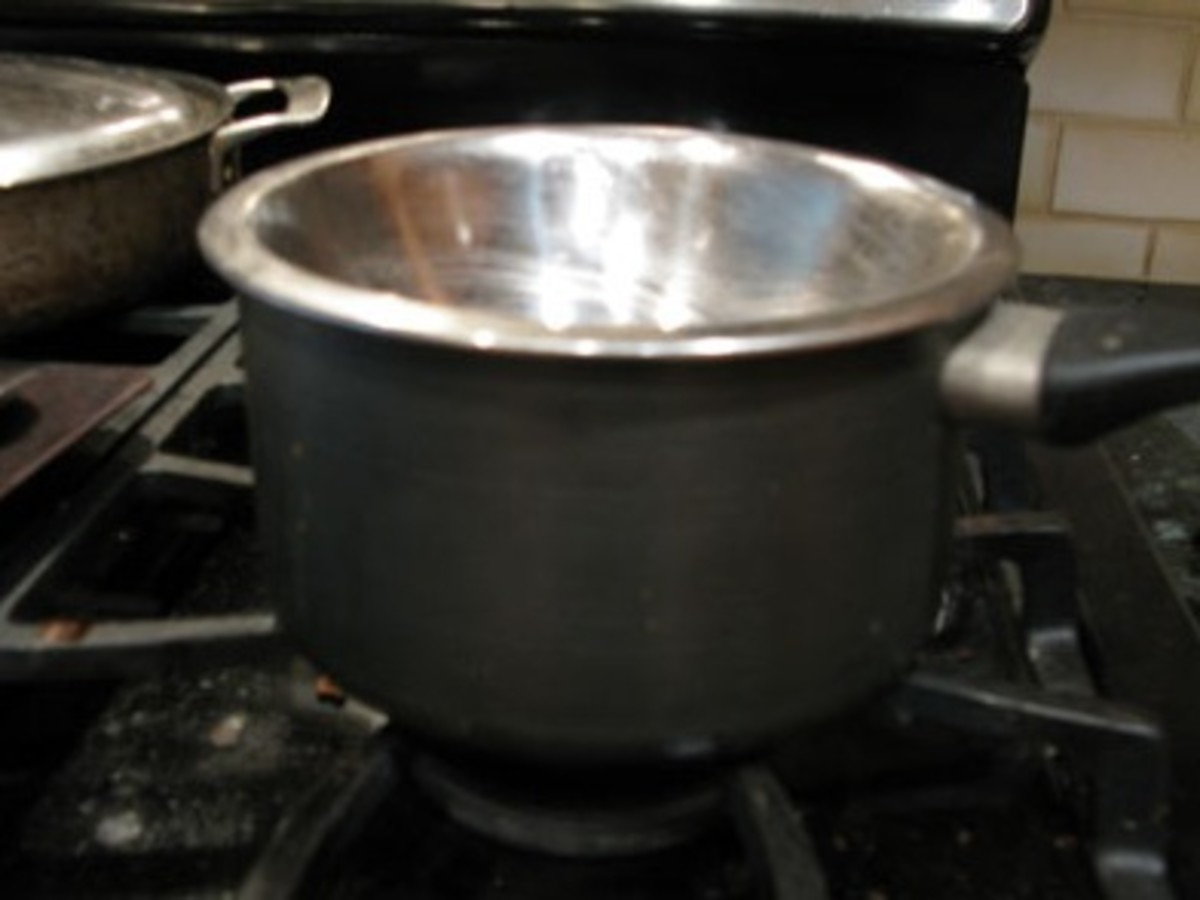 Since I don't have a double boiler I used a metal bowl and a pot with water under.