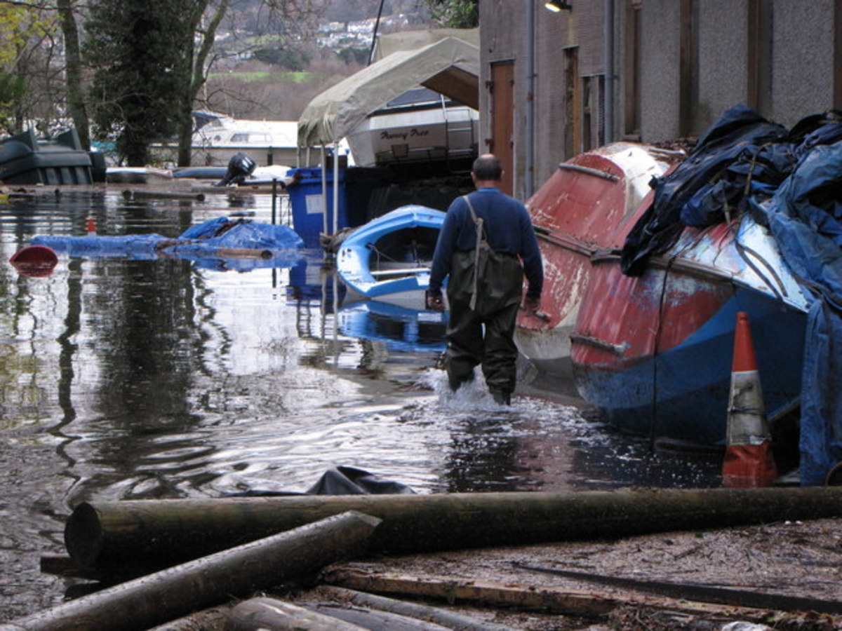 Photo Credit - http://www.geograph.org.uk/photo/1590581 Flooding and Damage After 36 hours of rain and gales. The copyright on this image is owned by John Proctor and is licensed for reuse under the Creative Commons Attribution-ShareAlike 2.0 license