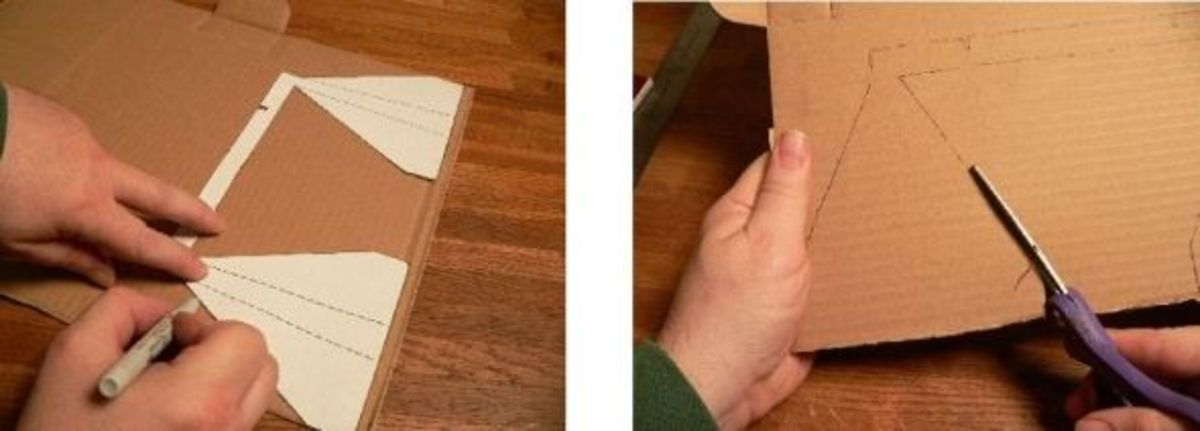 Cut out the rest of your cardboard pieces.