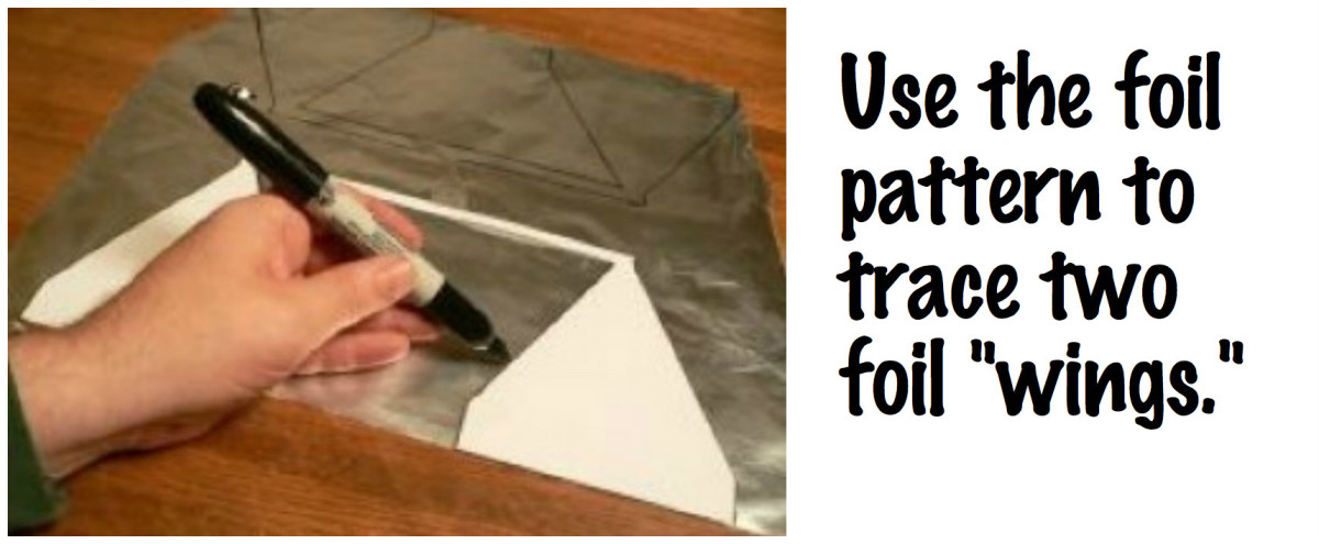 Use the foil pattern to trace two wings.
