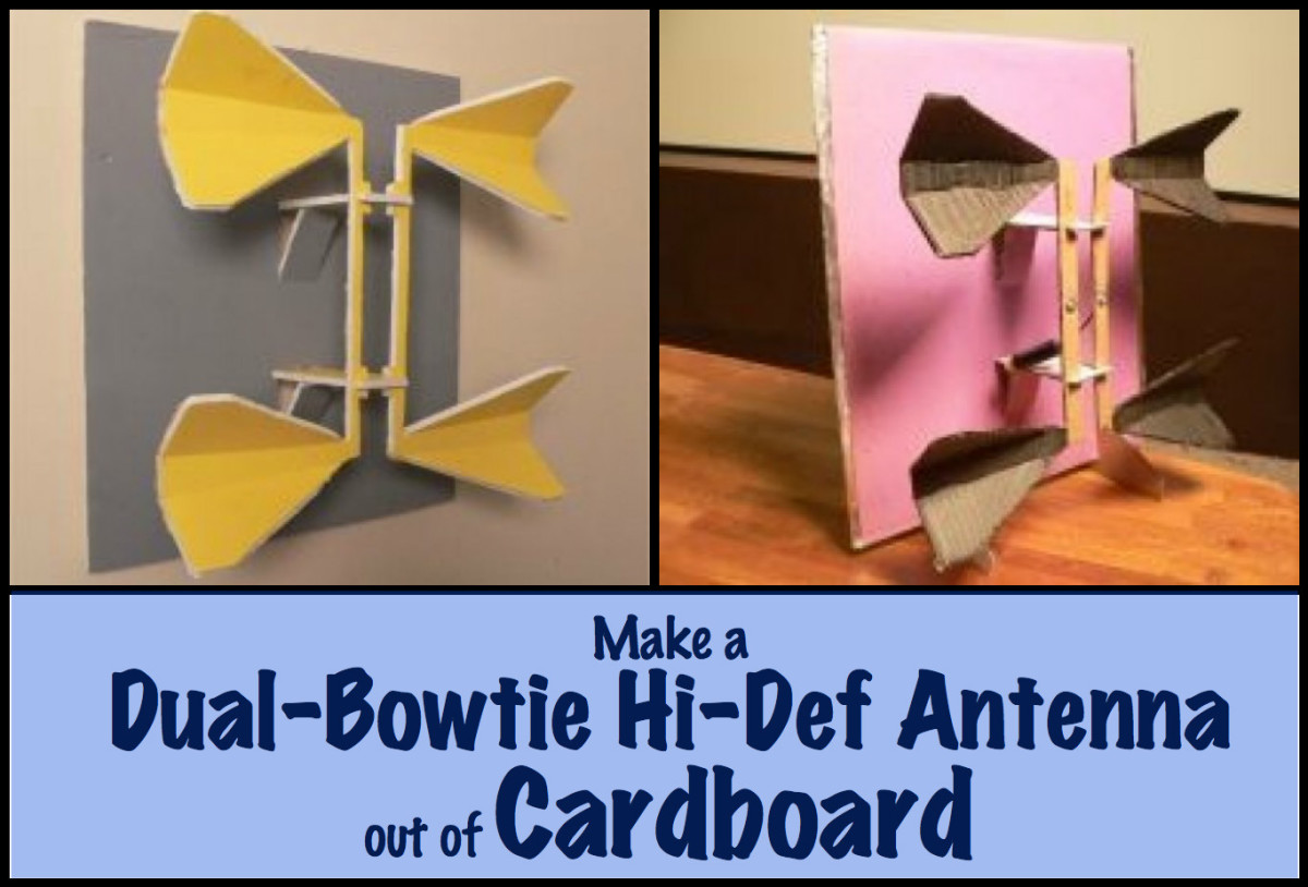 Follow these directions to make a functional antenna from cardboard and a few simple parts.