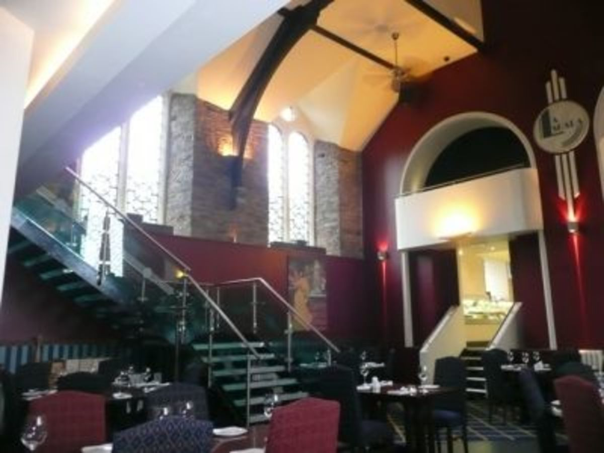 La Scala is a wonderful restaurant set inside a converted chapel at Bodmin Jail