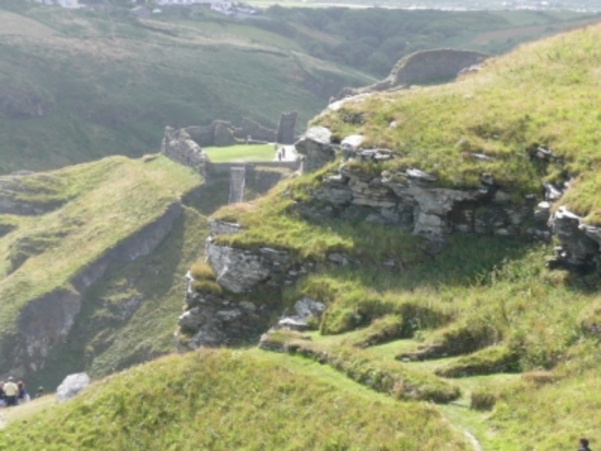 Looking back at the Vale of Avalon from Tintagel Island