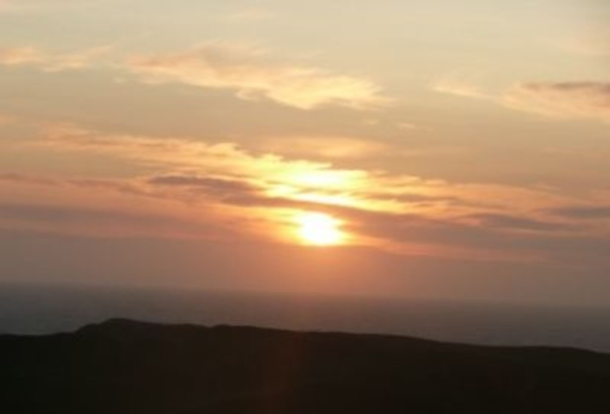 Tintagel Sunset over the Vale of Avalon
