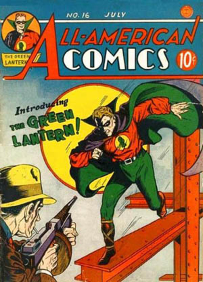 Green Lantern's debut in All-American Comics #16 (July 1940)