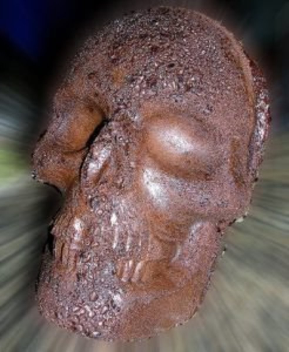 Unfrosted Chocolate Skull Cake