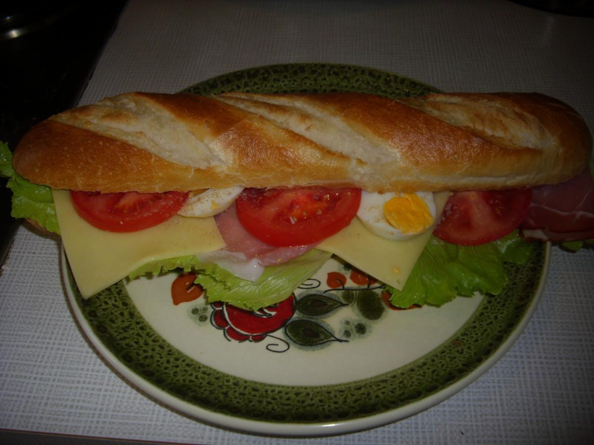 Schwarzwälder  (Black Forest Ham) Cheese Sandwiches