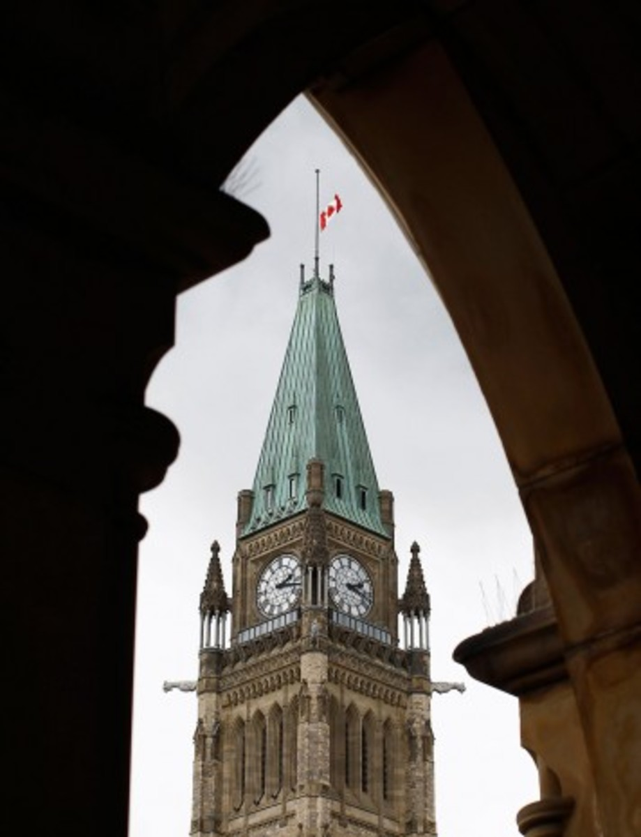 The Canadian flag on the Peace Tower was lowered to half-mast in Layton's honour.