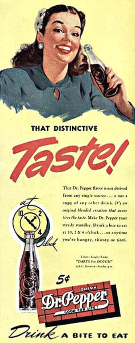 Old Dr Pepper advert