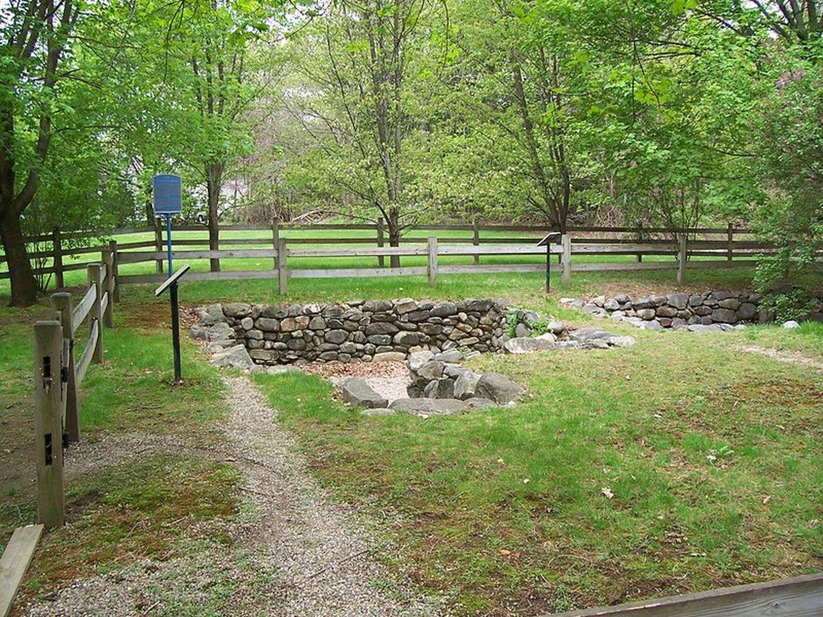 Present day archeological sight of the Salem Village parsonage.  Salem, Massachusetts