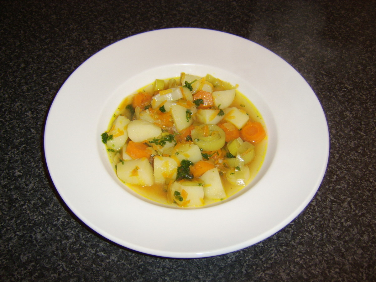 Vegetable soup need never be boring and can provide a tasty eating experience for vegetarians and omnivores alike