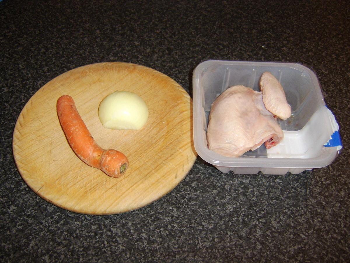 Very basic chicken stock ingredients