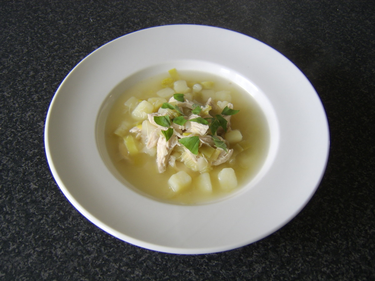 Chicken, Leek and Potato Soup should always be made with fresh chicken stock