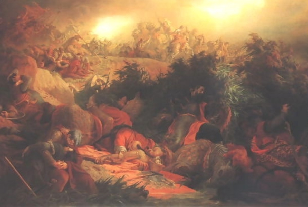 The Battle of Mohács, painting by Bertalan Székely, 1866