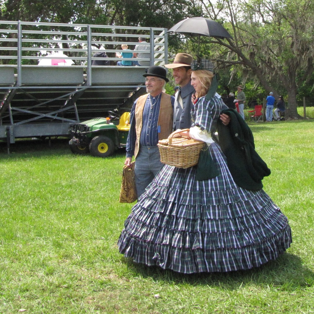 Re-enactors at an event in Florida. The re-enactors are dedicated in getting their costumes perfect for the time period.
