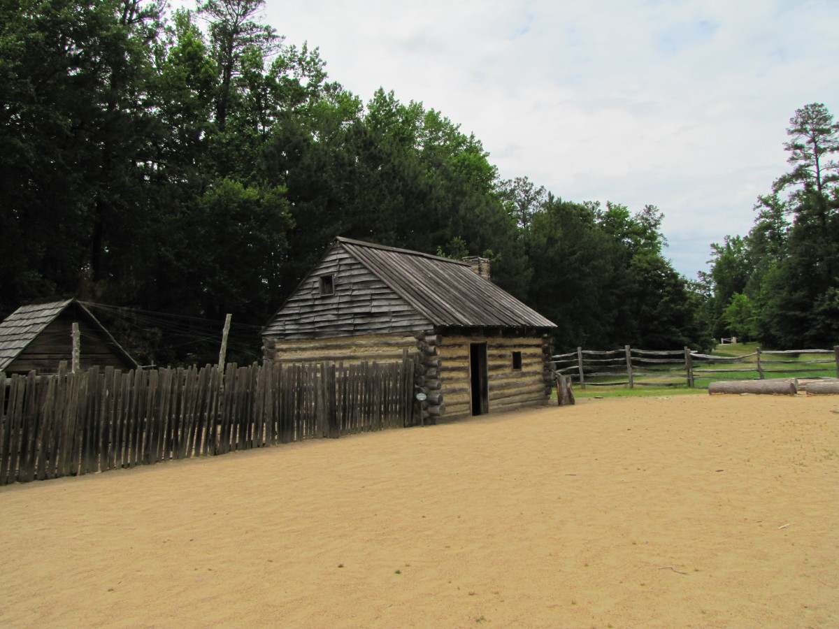 Cabin in the state of Virginia in the early days. Homes in Indiana during the frontier times would have been similar.