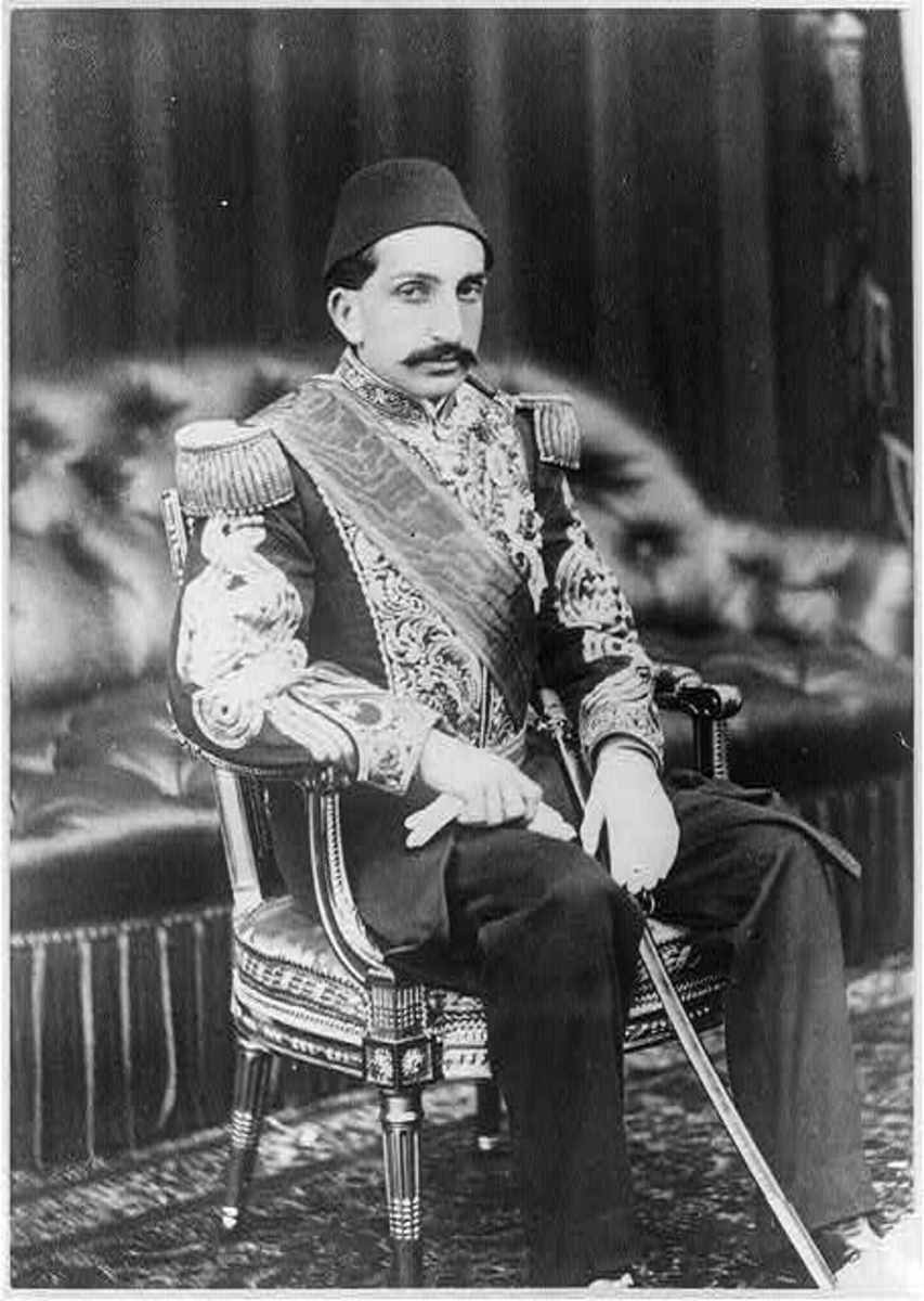 Adbud Hamid II, Grand Sultan of the Ottoman Empire.