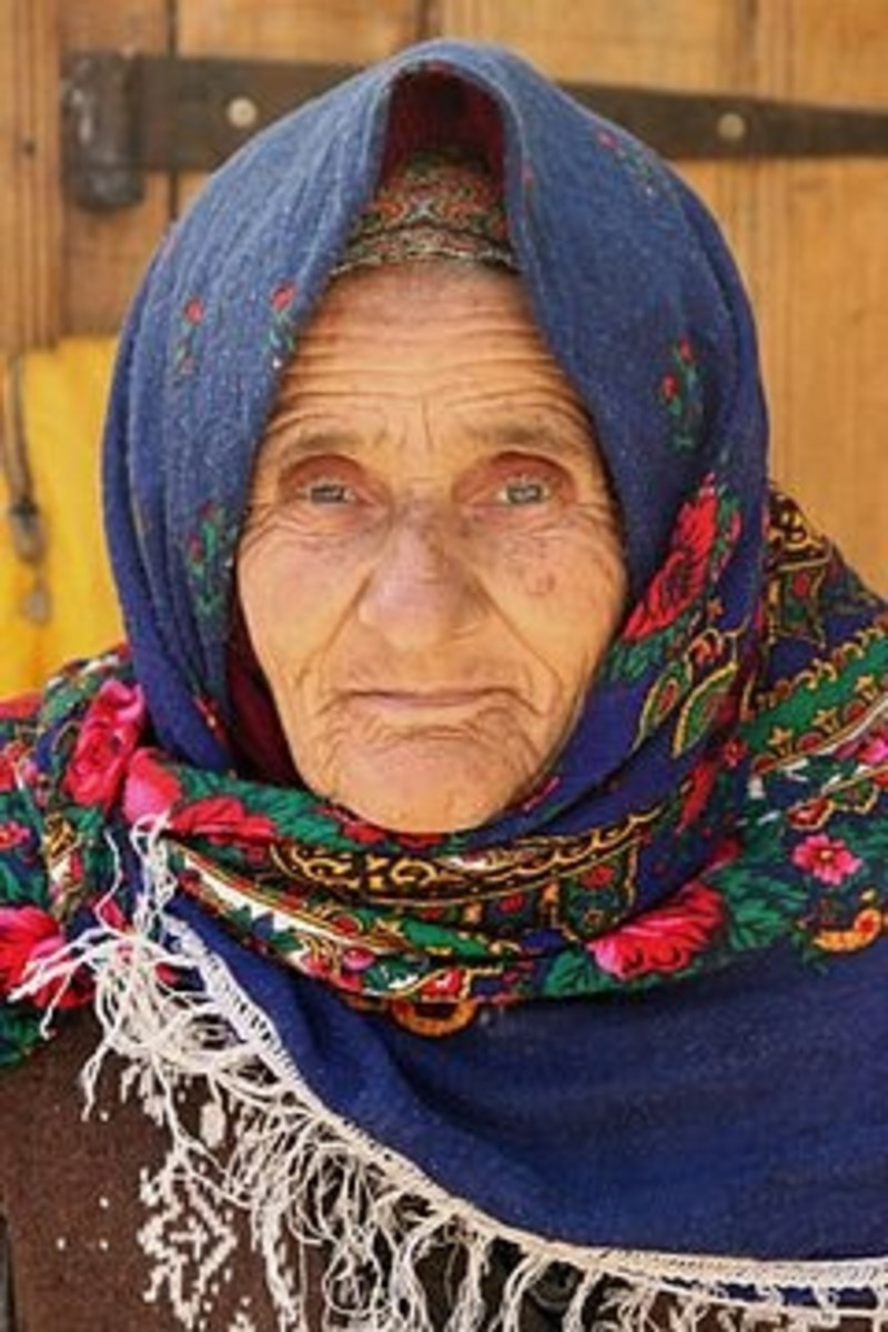 Old woman in Lahic, Azerbaijan