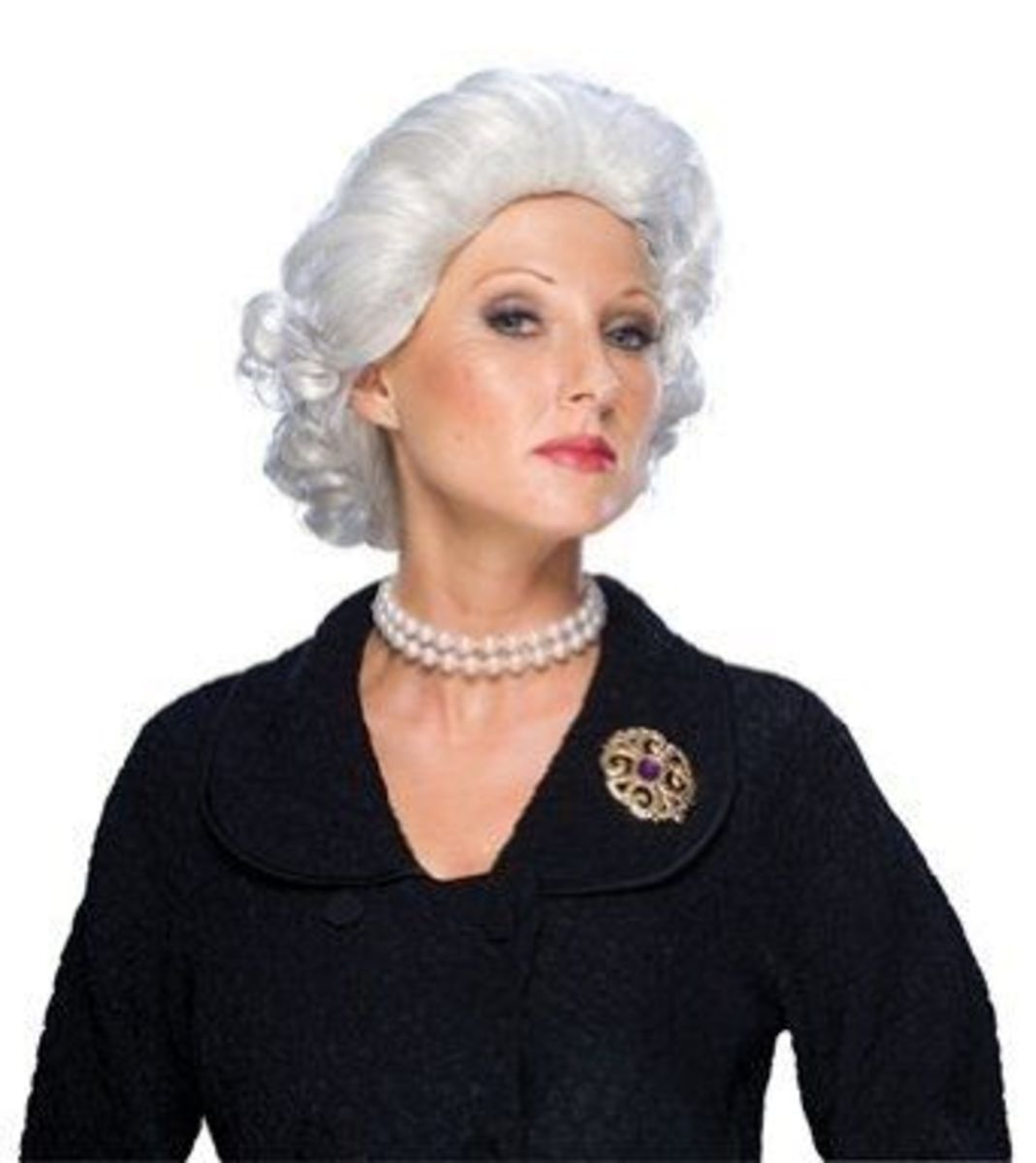 Try a Queen Elizabeth White Wig as part of the Halloween costume.