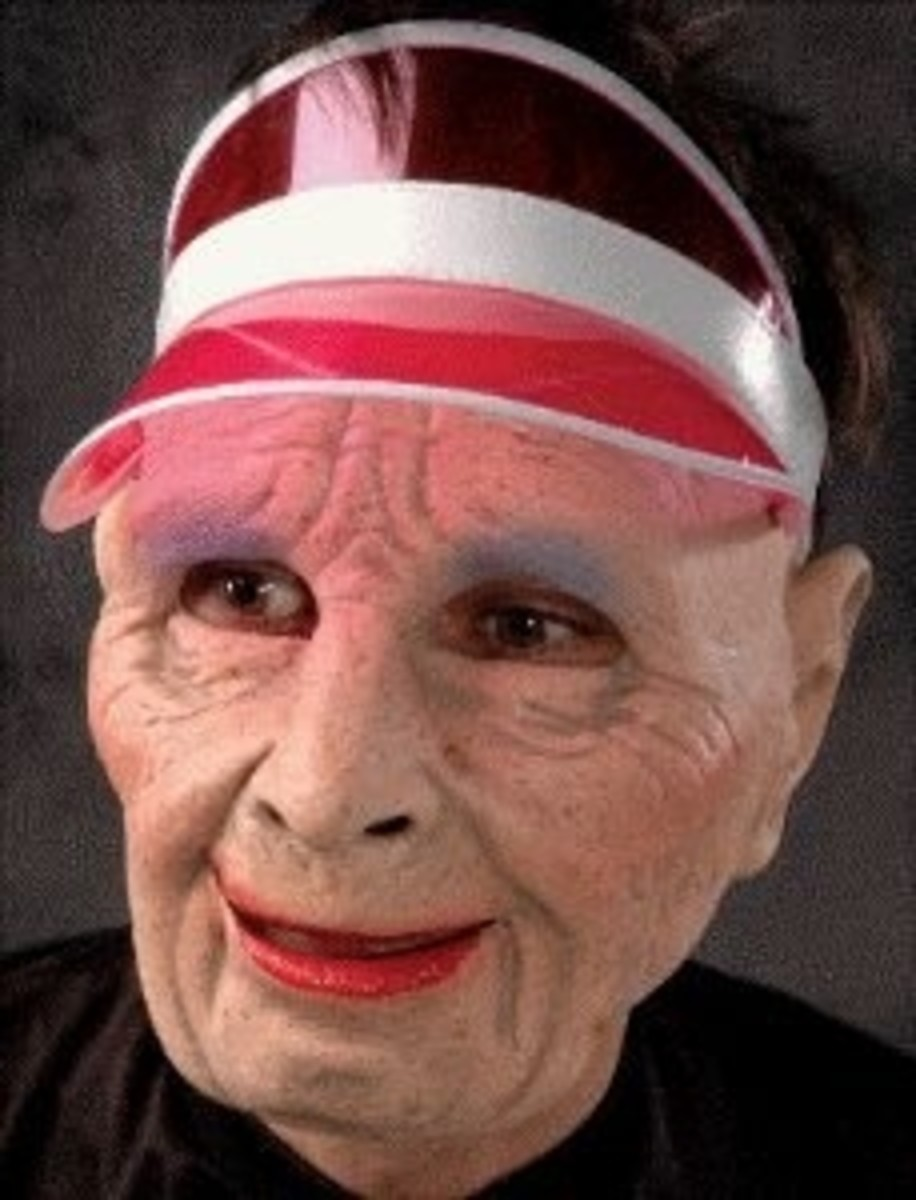 Lotta Slots Old Lady Gambler Adult Halloween Mask