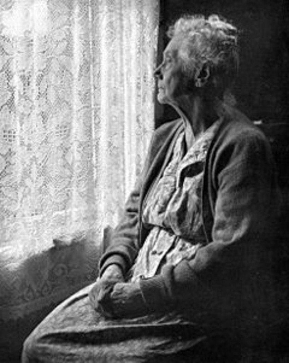 elderly woman, B&W by Chalmers Butterfield