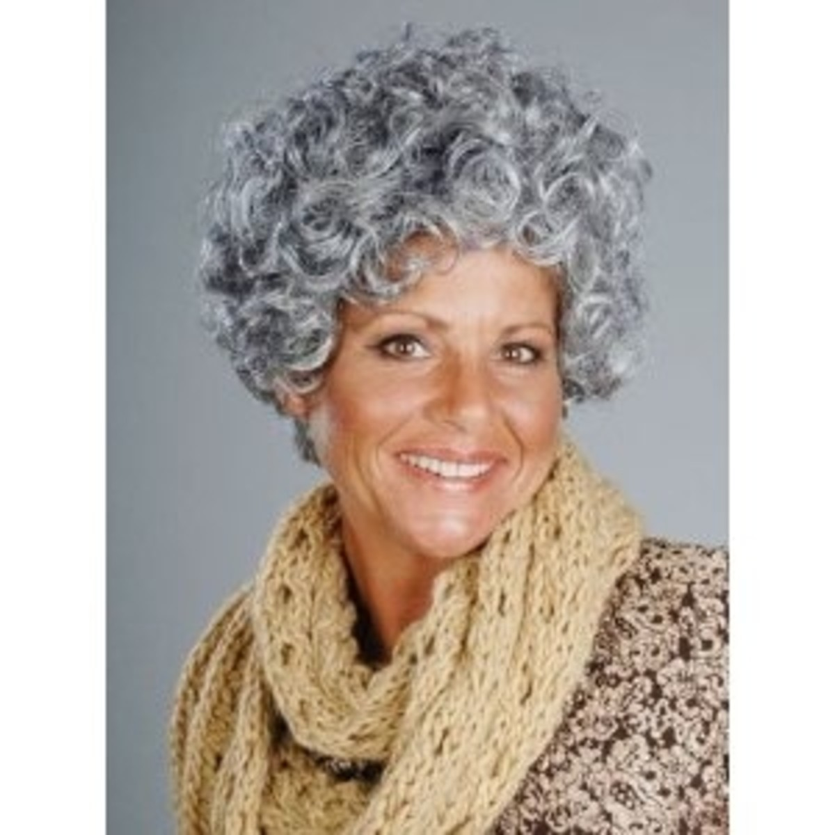 A simple Nanna Grandma grey wig works, too.