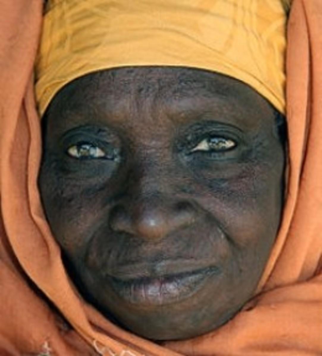 Elderly Gambian woman's face
