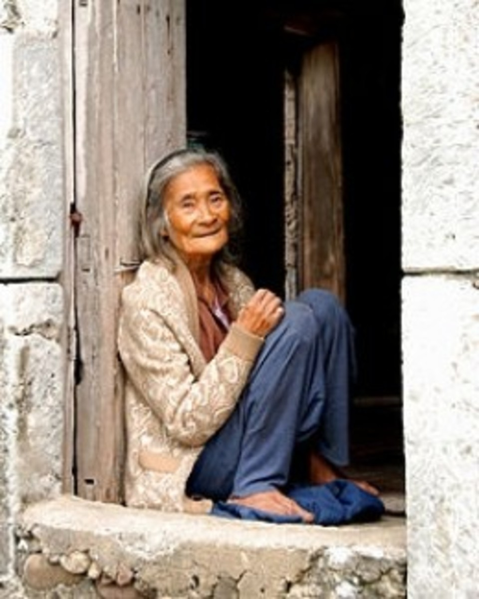 85 year old woman from Ivatan