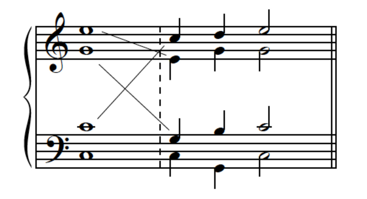 "Example 8--Converting ""passing-tone"" version into ""neighbor-tone"" version using voice exchanges."