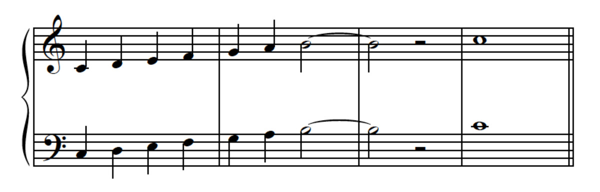 Example 11--Leading-tone demonstration.
