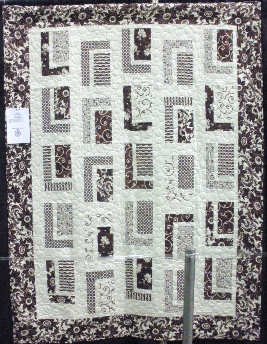 Modern quilts use simple shapes, and are carefully executed for balance and design.