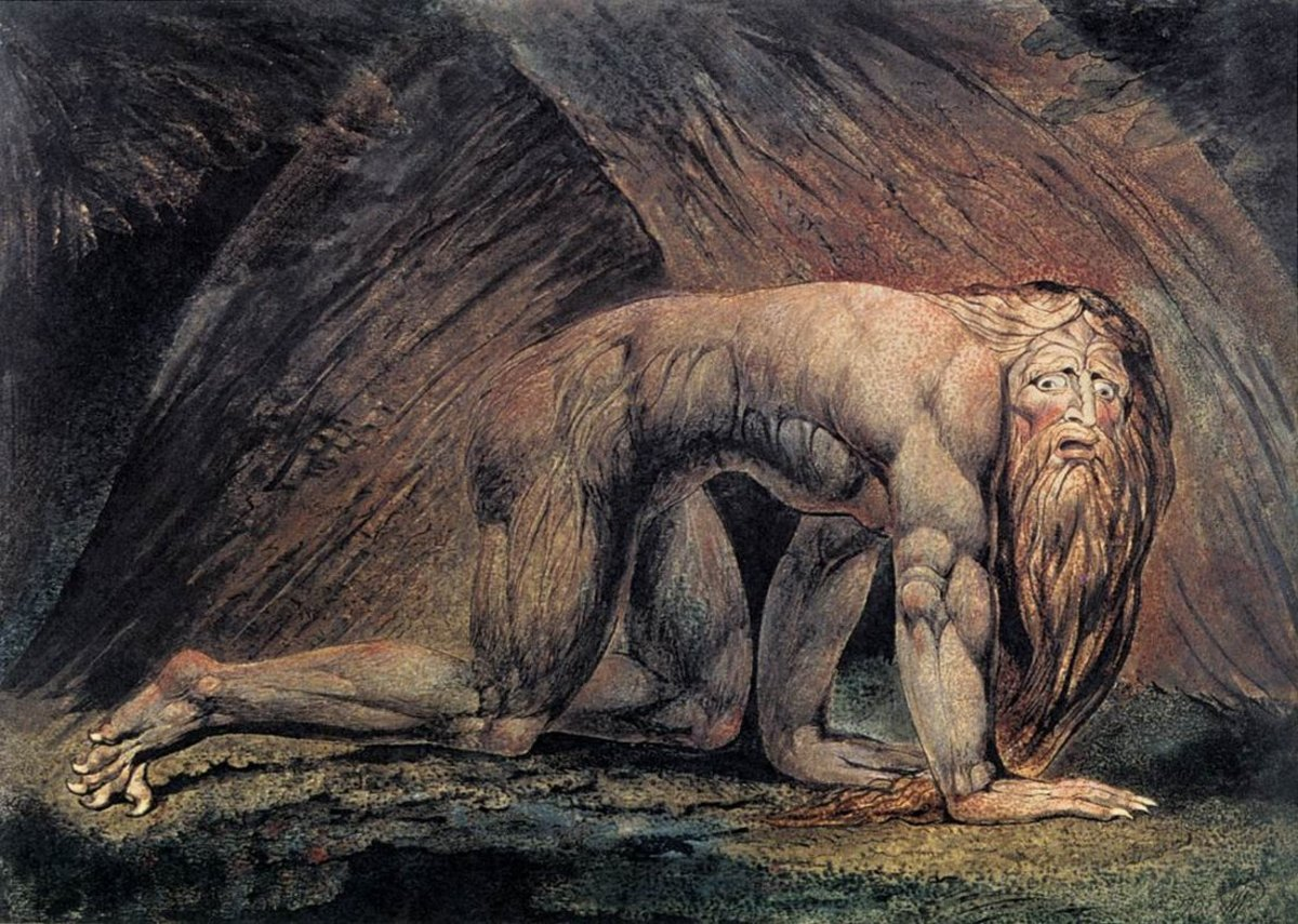 Nebuchadnezzar, William Blake (1757-1827)  Dan 4:30  The king spake, and said, Is not this great Babylon, that I have built for the house of the kingdom by the might of my power, and for the honour of my majesty?  Pride goeth before destruction!