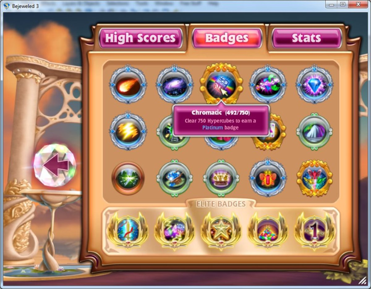 Bejeweled screenshot with score