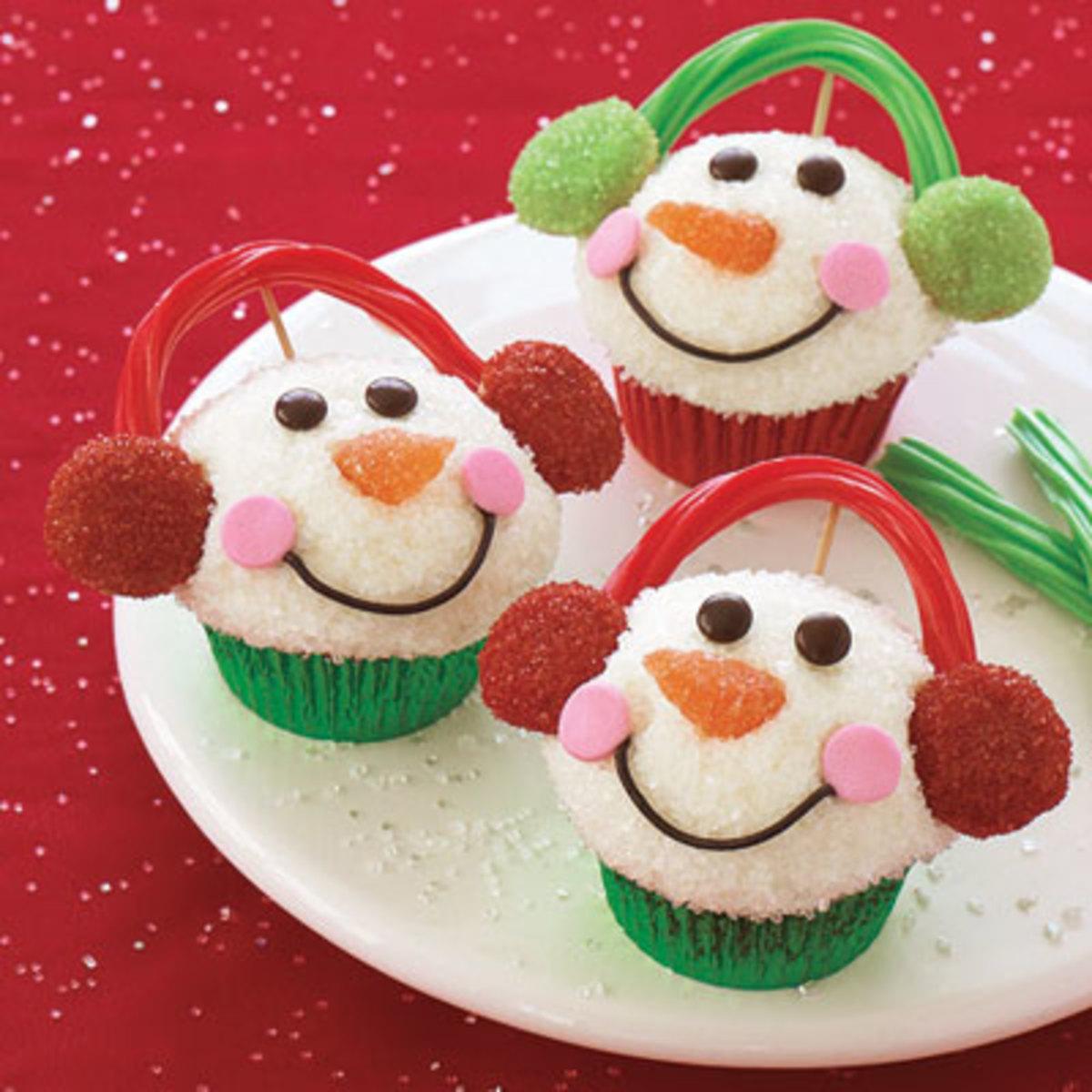Snowmen Cupcakes