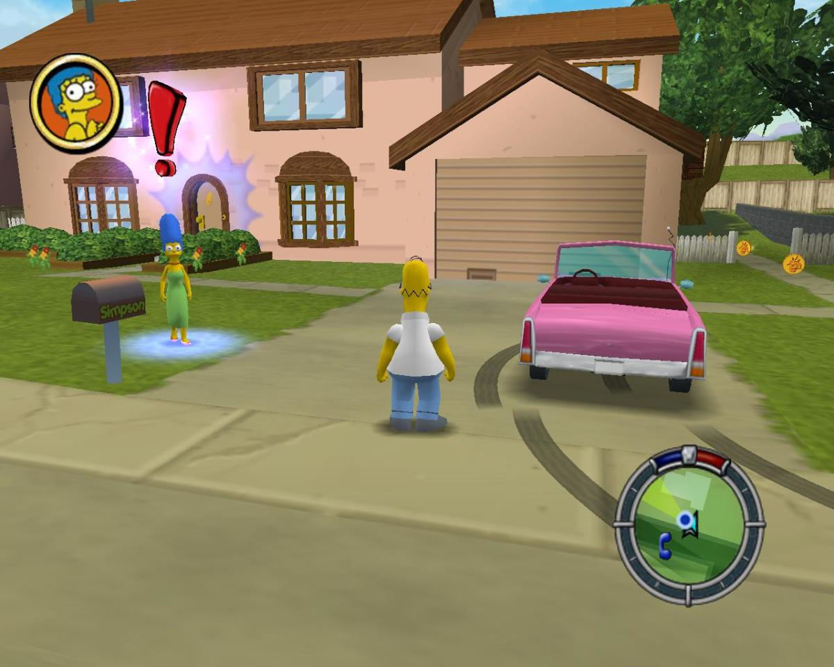 Simpsons Hit and Run Gameplay