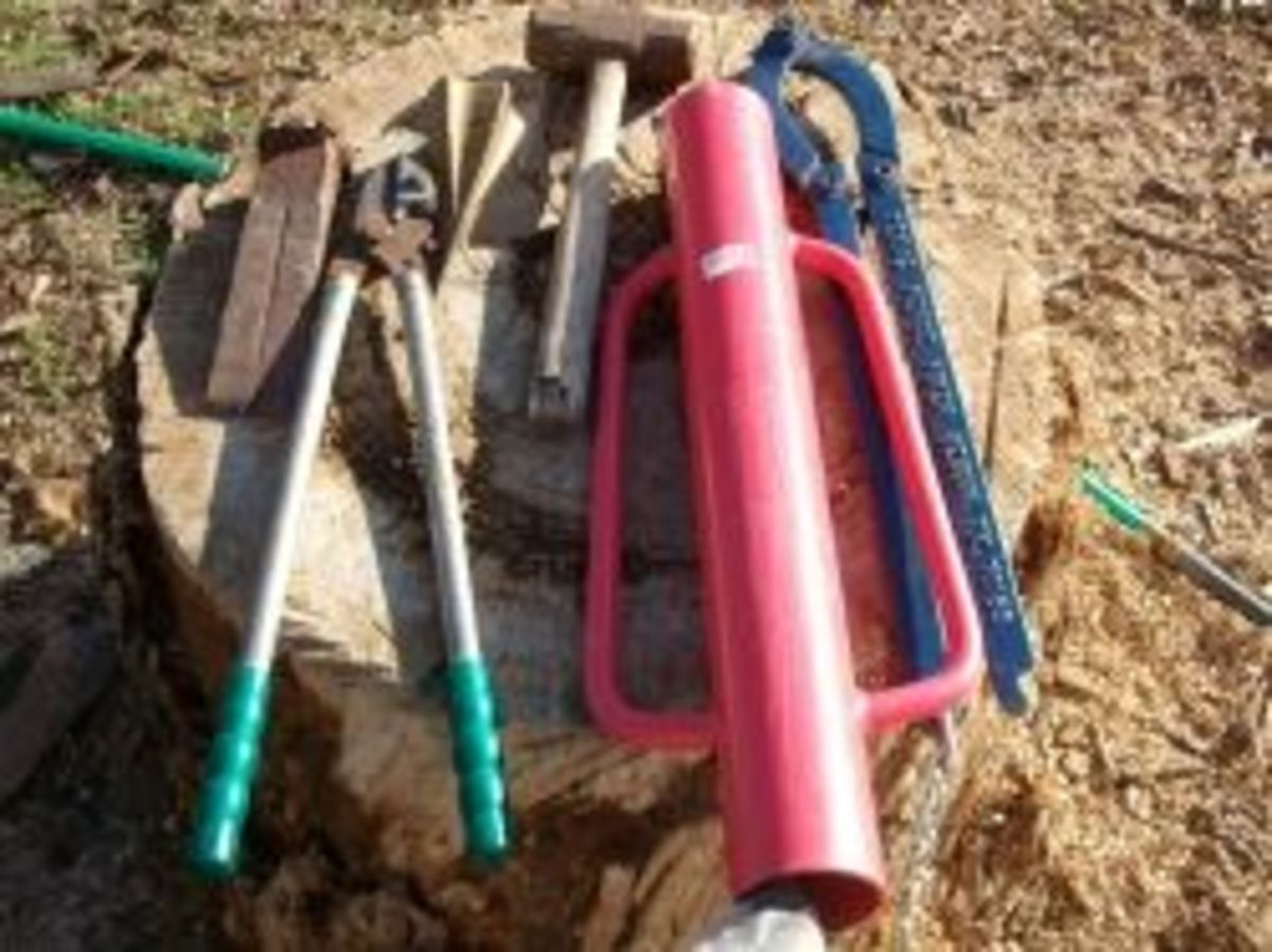 Most important tools I use to work in my yard and garden.