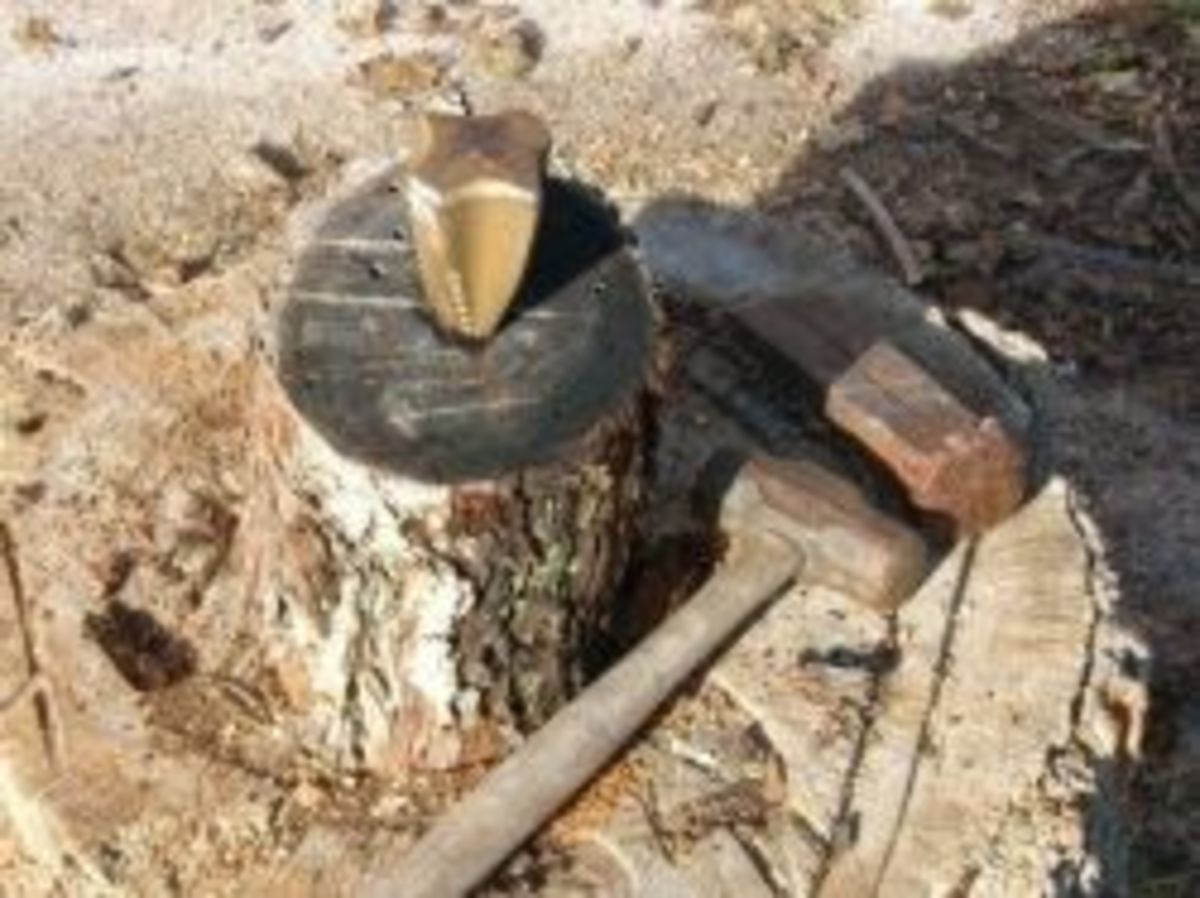 Wedge & Sledge Hammer for Splitting Firewood