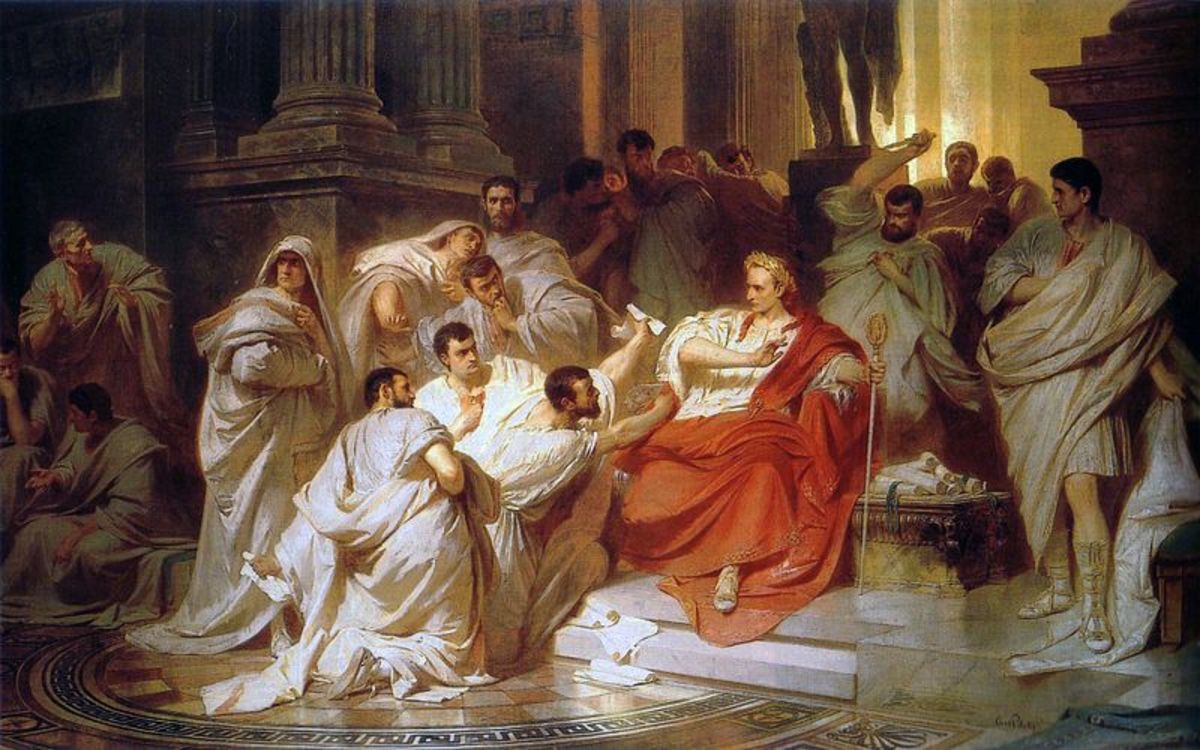 The Murder of Caesar by Karl on Piloty (1865).