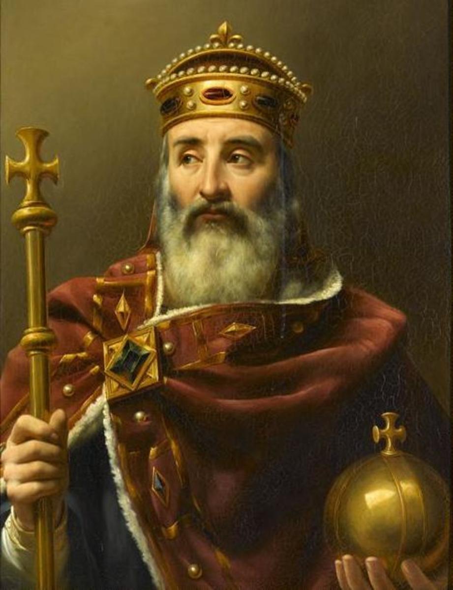Charlemagne, empereur d'Occident (742-814).