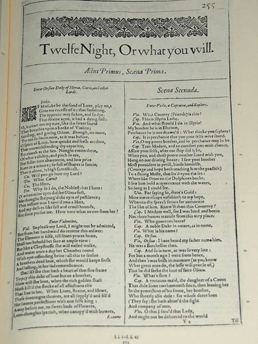 First Folio Twelfth Night , 1623