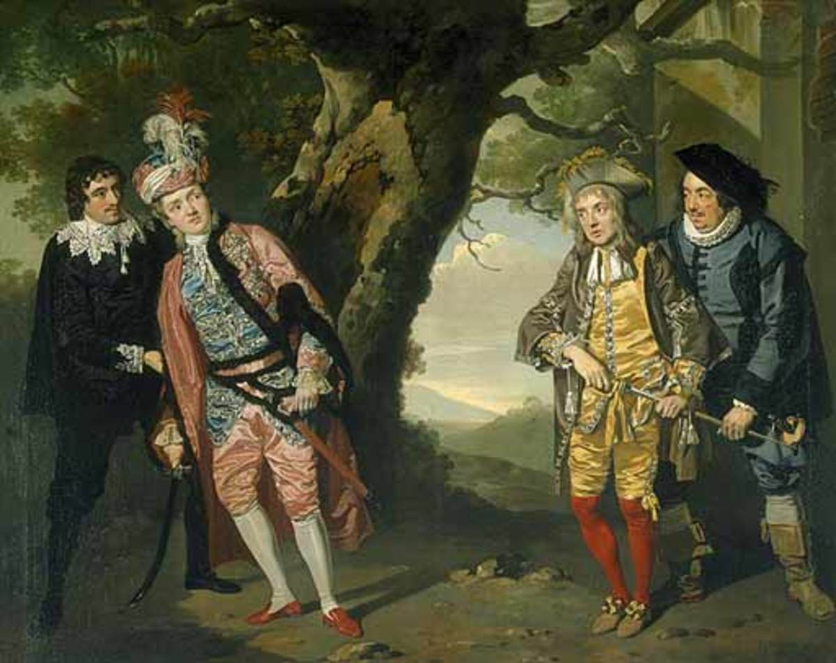 Act 3, Sc. 4 - Viola as Cesario, as reluctant to fight as Sir Andrew Aguecheek is - Francis Wheatley