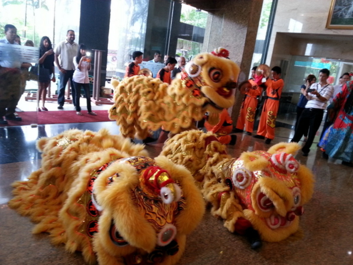 Getting lion dancers to perform at homes and offices are auspicious during Chinese New Year to bring luck and prosperity