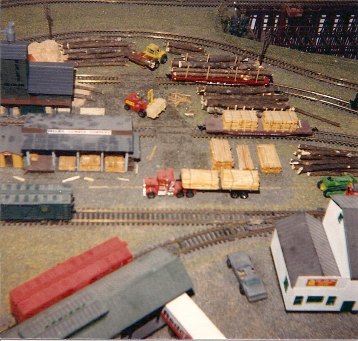 This layout was created in the 1980s -- before the E-Z Tracks were invented.  This is not how our new layout will look.