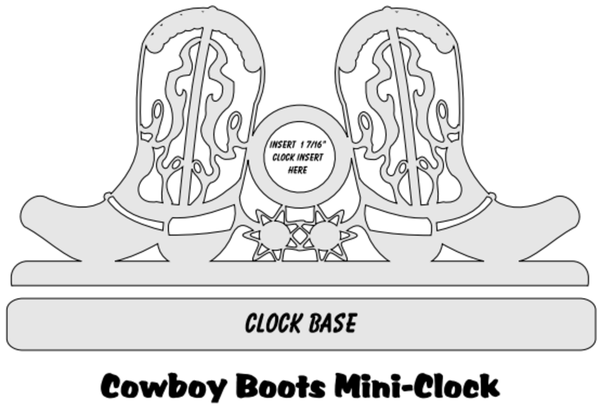 Free Scroll Saw Patterns - Mini Clocks
